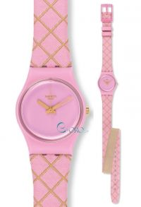 SWATCH Waffel Pink Leather Strap LP133 - http://rologia.org/swatch-waffel-pink-leather-strap-lp133/