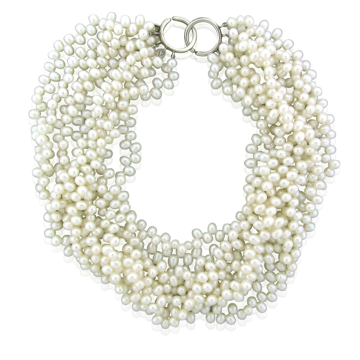 Tiffany & Co Paloma Picasso Pearl Torsade Sterling Silver Necklace
