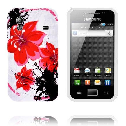 Symphony (Rød Blomster) Samsung Galaxy Ace Cover