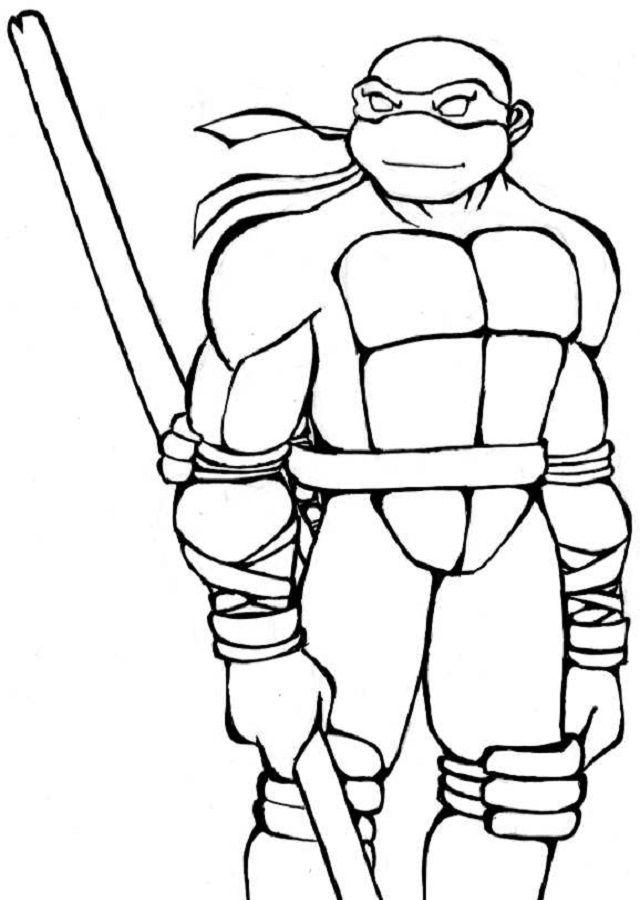 Рисунки черепашек ниндзя для раскрашивания