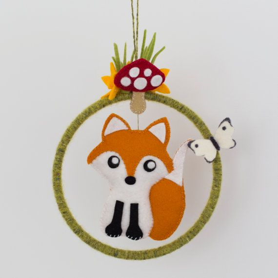 Babes in the Woods Fox mobile. $39
