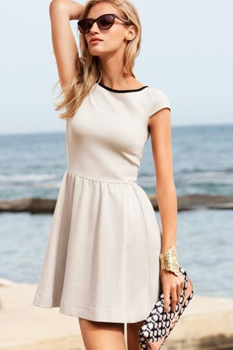 H Light Beige Dress, $30, available at H.