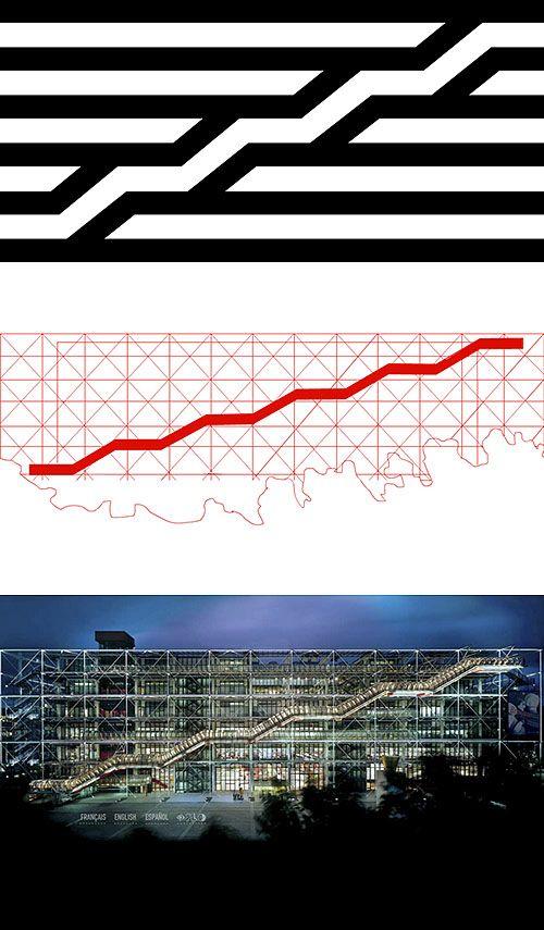 CONSOMMATION ET CULTURE Logo du centre Pompidou a Paris  Jean Widmer identité visuelle