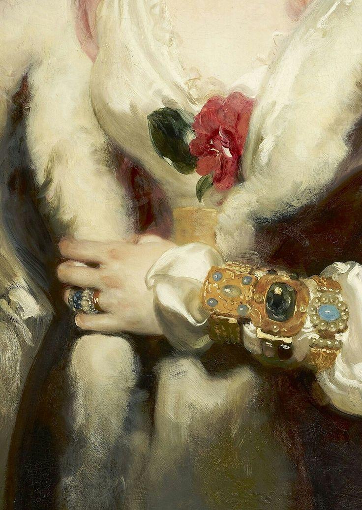 Sir Thomas Lawrence (English, 1769 – 1830) Julia, Lady Peel  ~ detail (1827)