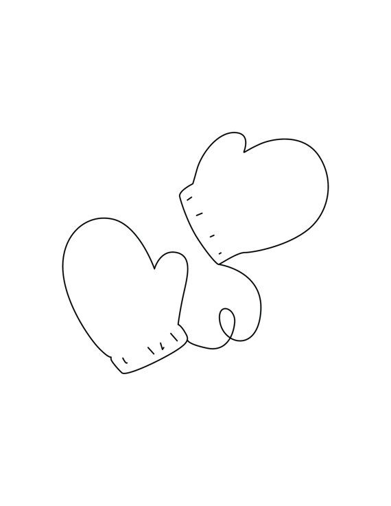 Downloadable Coloring Page Mittens by TheKneppraths on