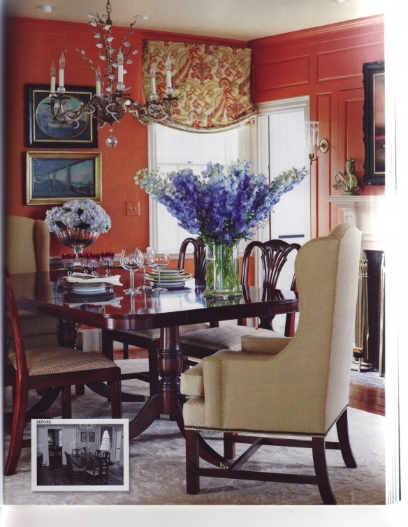 Beautiful Orange Dining Room By Gerald Pomeroy