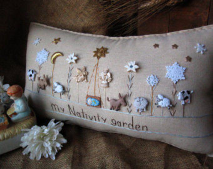 Mi almohada Navidad jardín estilo casa de campo