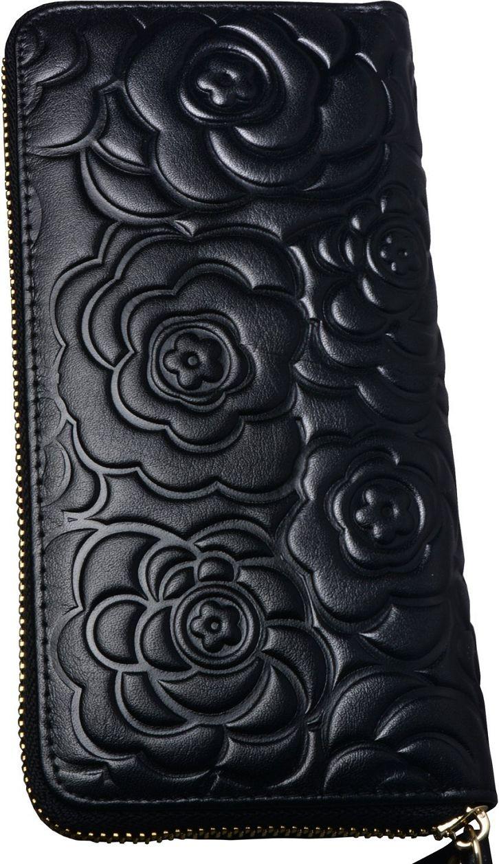 •Website: http://www.cuteandstylishbags.com/portfolio/heshe-black-rose-zip-around-wallet/ •Item: Heshe Black Rose Zip Around Wallet