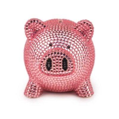 Trumpette Rhinestone Piggy Bank in Pink at London Jewelers!