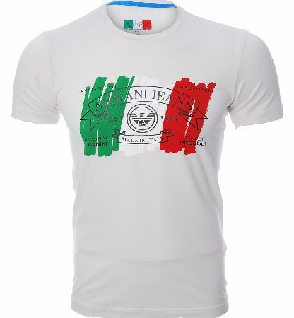 Armani Jeans Italy Print T-Shirt Armani Jeans Italy Print T-Shirt features a crew style neck design with short sleeves and the signature Armani Jeans logo embossed in the centre of the t-shirt with the colours of the Italian flag. Co http://www.comparestoreprices.co.uk/t-shirts/armani-jeans-italy-print-t-shirt.asp