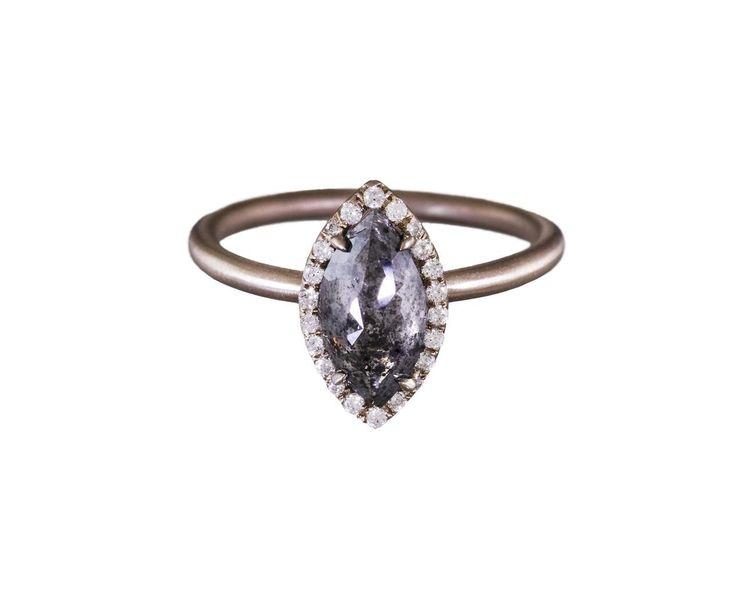 Rustic Diamond Marquise Solitaire