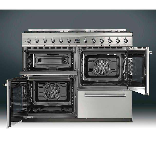 BuySmeg SYD4110 Symphony Dual Fuel Range Cooker, Stainless Steel Online at johnlewis.com