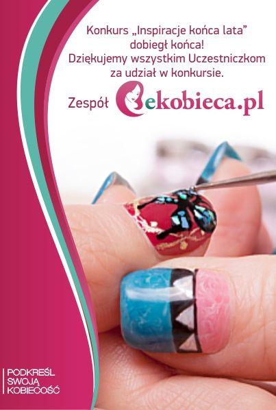 Jeszcze raz dziękujemy wszystkim za nadesłanie pięknych prac konkursowych a szczególnie gratulujemy Laureatkom. Prosimy nagrodzone Panie o kontakt na adres p@ekobieca.pl i podanie danych do wysyłki nagród. Pozdrawiamy! :) Zespół ekobieca.pl