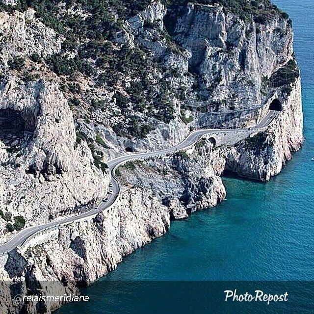 "A stunning and scenic road along the Italian Riviera: we are at ""Capo Noli"".  Foto di @relaismeridiana"
