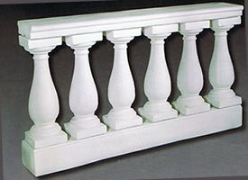 Baluster Section, Top & Bottom Coping