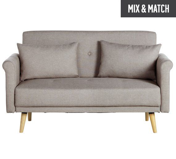 Home 2 Seater Fabric Sofa In A Box Natural At Argos Co