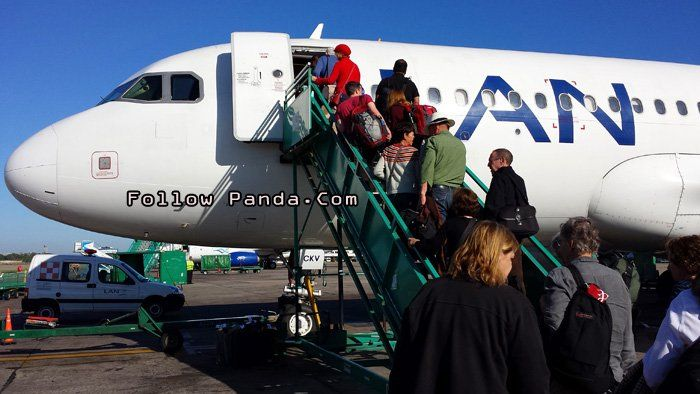 Boarding LAN Airlines - Buenos Aires, Argentina | FollowPanda.COM