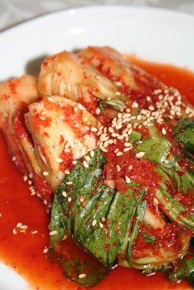 ジョンギョンチェキムチ(정경채김치)のレシピ -- チンゲン菜キムチの作り方 | 韓国料理店に負けない韓国家庭料理レシピ「眞味」