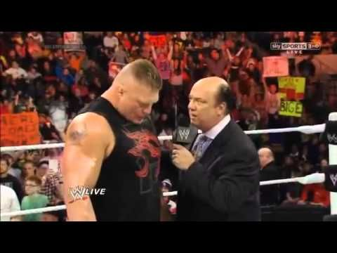 WWE Raw Brock Lesnar Returns & F5 Mark Henry - YouTube