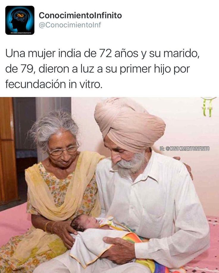 """Daljinder Kaur dio a luz a su bebé después de seguir un tratamiento de fecundación in vitro durante dos años junto a su marido de 79 años en una clínica de reproducción asistida del Estado de Haryana (norte). """"Dios escuchó nuestras oraciones. Mi vida ahora está completa. Cuidaré de este bebé yo sola. Me siento llena de energía. Mi marido también es muy cuidadoso y me ayuda tanto como puede"""" dijo a la AFP Kaur en la ciudad de Amritsar.  Casados desde hace 46 años Kaur explicó que con su…"""