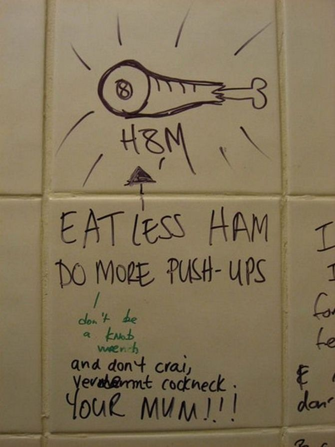 Best Bathroom Stall Quotes uselesshumor: funny signs: the best of bathroom stall graffiti