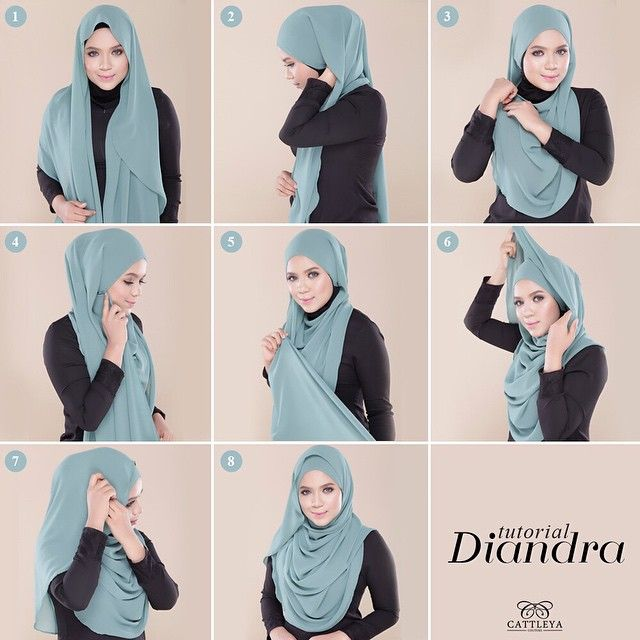 This gorgeous hijab tutorial is too easy to follow, it's well secured and perfectly lined from the front. to learn how to get this look, keep reading for steps. Get your hijab, and some pins ready: 1. Place the hijab…