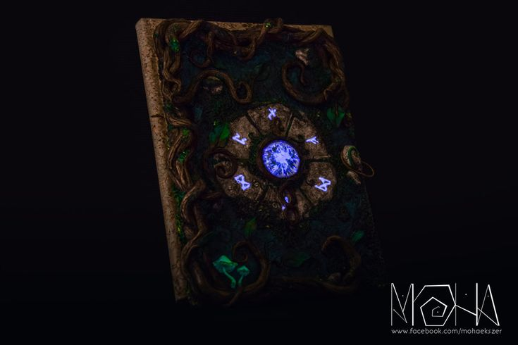 Glow in the dark magic journal - Copyright (c)Moha by Moha-jewelry on DeviantArt