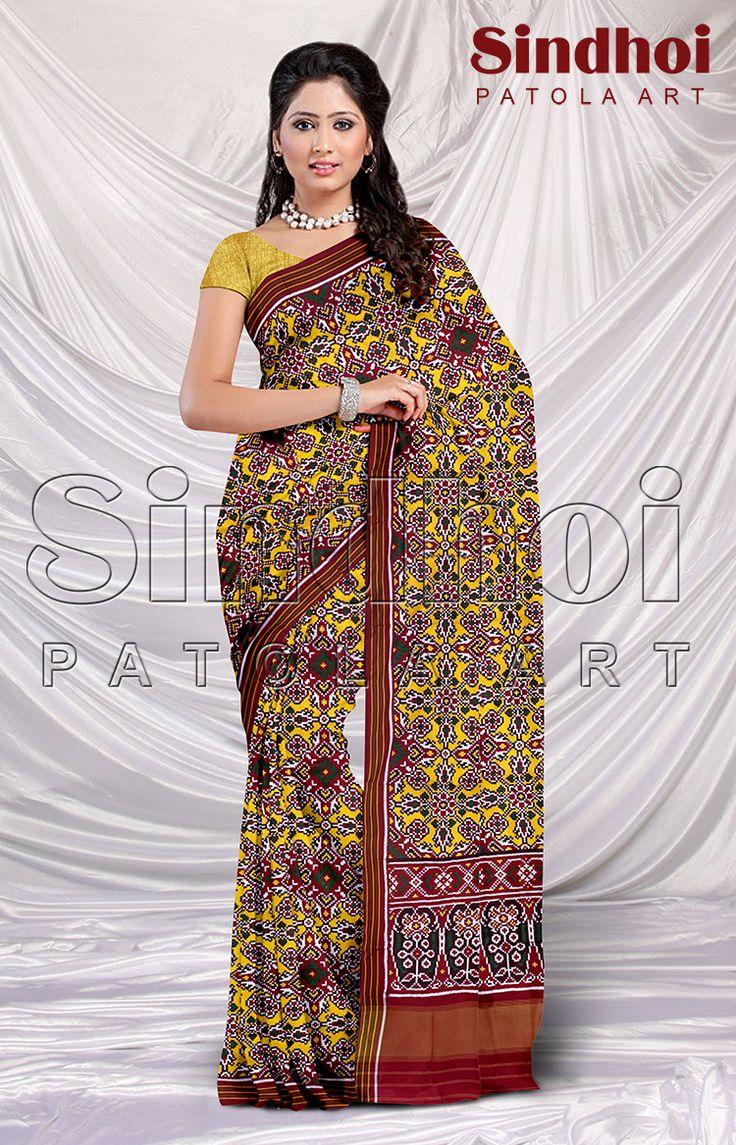 Real Patan Patola saree by Sindhoi Patola Art