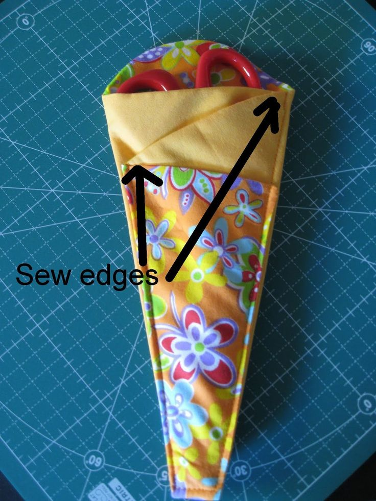 Rounded Top Scissor Case I have just made a refinement to the folded fabric scissor holder. The asymmetrical look at the top wa...