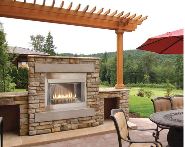 Empire Outdoor Gas Fireplaces Linear Standard Fireboxes And Log Sets In Stainless Steel