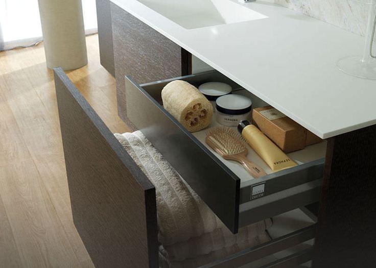 mueble de lavabo moderno con armario integrado next roble coco vintage gamadecor by. Black Bedroom Furniture Sets. Home Design Ideas