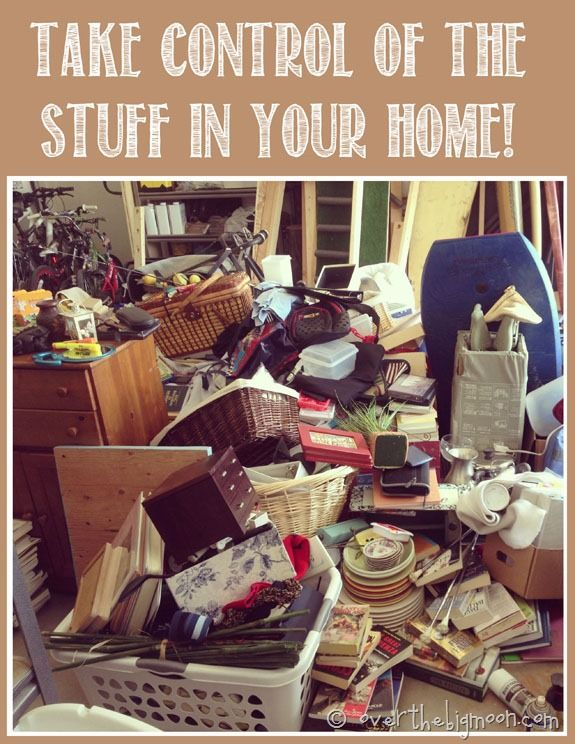 somebody had some out-of-control clutter. Probably should be on Hoarders rather than Pinterest!