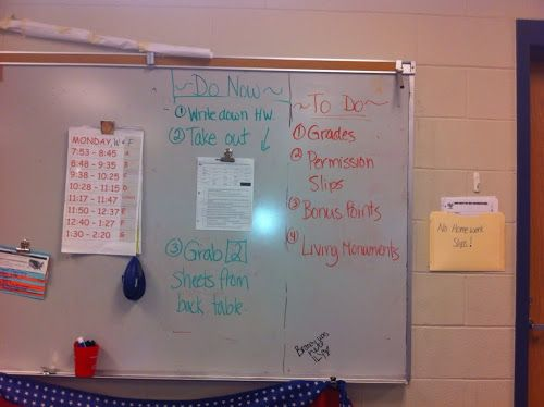 To Engage Them All: Middle School Time Savers Do Nows - for organization!