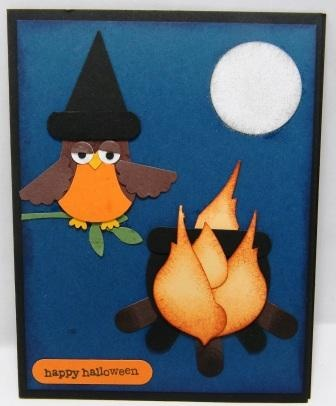 Tarjeta de halloween con un búho original!