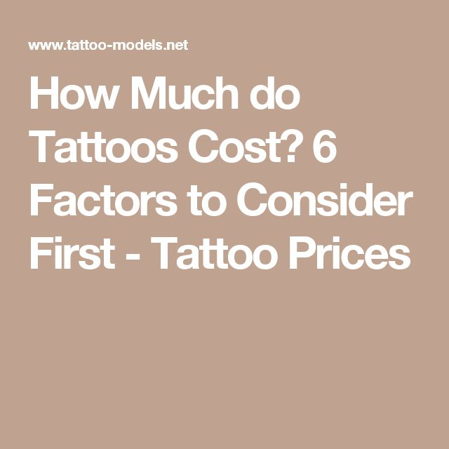 How Much do Tattoos Cost? 6 Factors to Consider First - Tattoo Prices