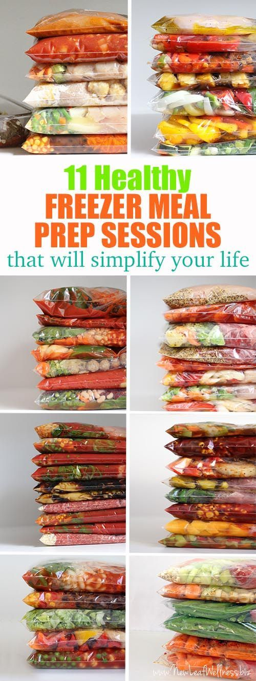 11 Healthy Freezer Meal Prep Sessions That Will Simplify Your Life. Grocery Lists and printable recipes included. Simply combine the ingredients in a gallon-sized bag and freeze!