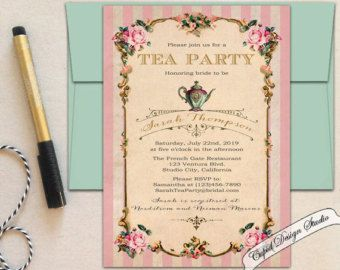 Best High Tea Invitations Ideas On Pinterest Tea Party - Write a birthday invitation in french
