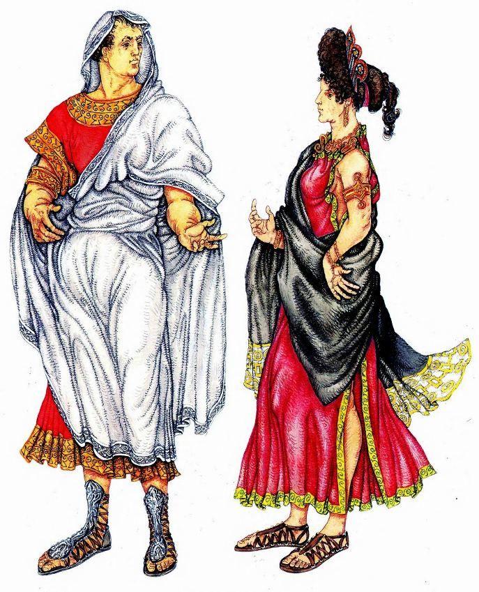 patricios romanos.  traje