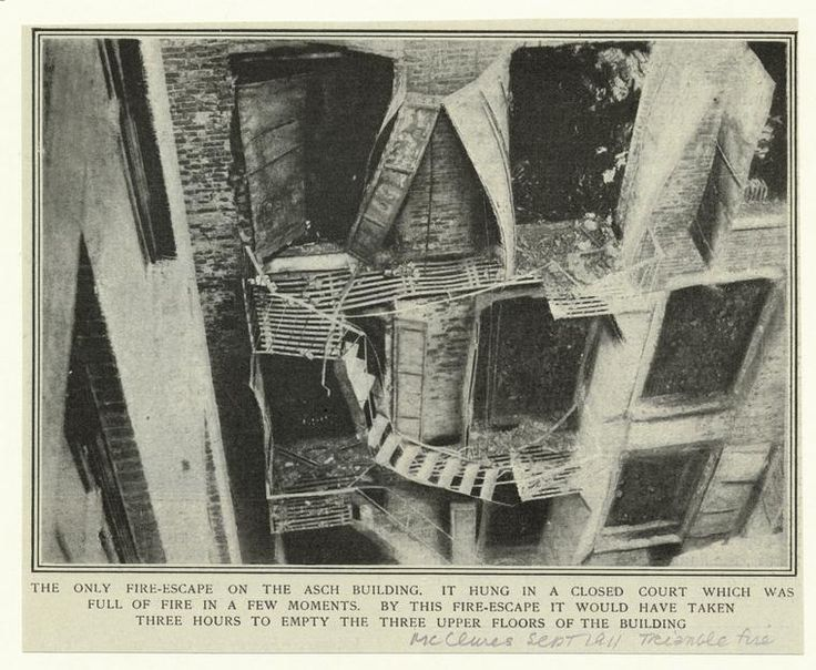 [Fire escape of Asch building after the Triangle fire, New York City, 1911.]