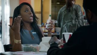 """Tasha The Teller Insecure HBO  Tasha the bank teller on the HBO series Insecureis played by actress Dominique Perry. At the end of the season 1 finale """"Broken As Fk"""" we see Lawrence (Jay Ellis) hook up with Tasha and the social media response was hilarious. We'll provide a summary of the episode and then take a look at some of the funniest social media reactions.  Issa (Issa Rae) Tiffany (Amanda Seales) Molly (Yvonne Orji) and Kelli (Natasha Rothwell) take a trip to Malibu to celebrate…"""