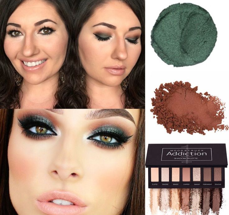 Provoked Mineral Eye Pigment, Splurge Cream Shadow in Assertive, and Forthright from Addiction Palette 1! Gorgeous green look!