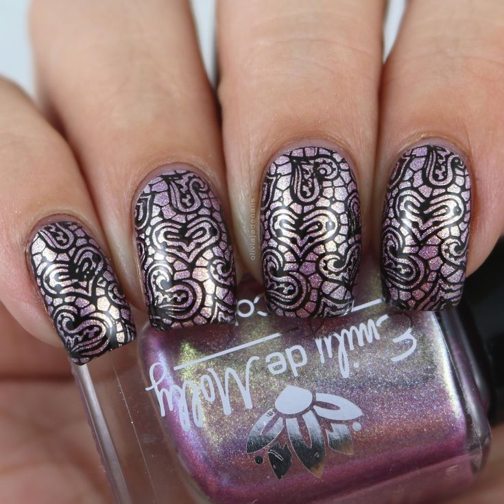 What's Up Nails B024 Love Is Everywhere Stamping Plate - Swatches & Review by Olivia Jade Nails