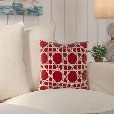 Breakwater Bay Truxton Outdoor Throw Pillow Fabric: Kane Coral