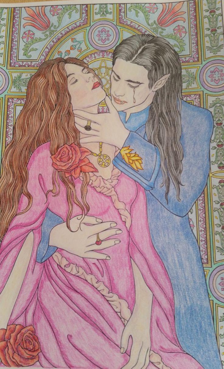 Vampire coloring book