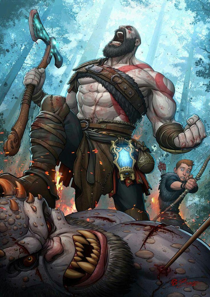 God of war art work kratos god of war god of war war art