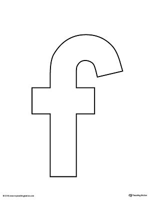 lowercase letter f template printable letter f craft