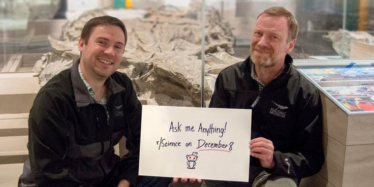 Exciting news, especially for all the #Borealopelta fans out there! Drs. Henderson and Brown will be on https://www.reddit.com/r/science/ on Friday, Dec. 8 to answer all your questions about the Borealopelta #dinosaur and their research! #AskMeAnything