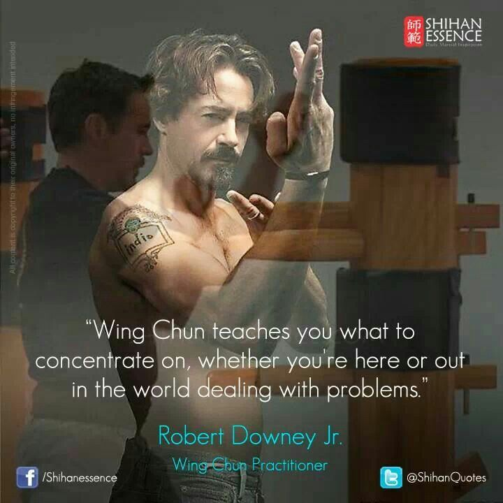 Wing chun and Robert Downey Jnr.