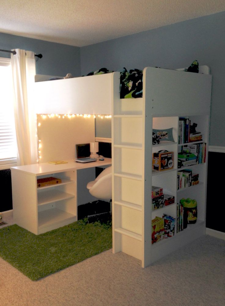 Best 25 loft bed ikea ideas on pinterest ikea bed hack for Bedroom ideas for 3 beds