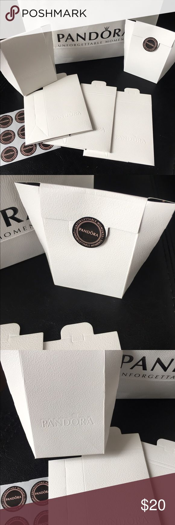 Lot of 6 Pandora paper gift boxes Lot Of  6 Pandor@ Mini White Paper Bags 9*6*3 Cm . Perfect For Charms, high quality pandora  Other
